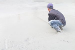 This is a picture of an asphalt and concrete repair service.