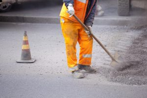 This is a picture of a paving services.