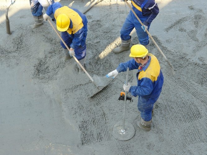 This is a picture of a concrete paving service.
